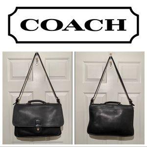 Vintage Coach Briefcase, Black Coach Metropolitan